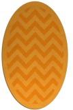 rug #354561 | oval light-orange borders rug