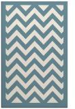 rug #354593    blue-green borders rug