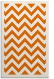 rug #354761 |  orange retro rug