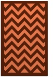 rug #354769 |  red-orange stripes rug
