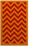 rug #354813 |  orange stripes rug
