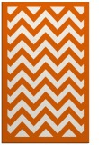 rug #354837 |  red-orange stripes rug