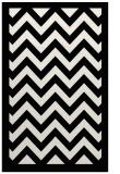 rug #354841 |  black stripes rug