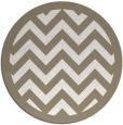 rug #354921 | round white stripes rug