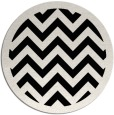 rug #354925 | round white stripes rug