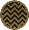 rug #354941 | round brown retro rug