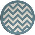 rug #354945 | round blue-green borders rug