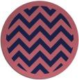 rug #355013 | round pink borders rug