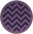 rug #355017 | round purple retro rug