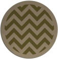 rug #355041 | round brown retro rug