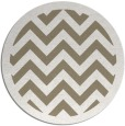 rug #355061 | round mid-brown retro rug
