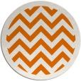 rug #355113 | round orange stripes rug