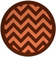 rug #355121 | round orange stripes rug