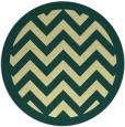 rug #355125 | round yellow borders rug