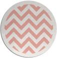 rug #355141 | round pink borders rug