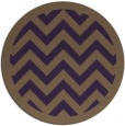 rug #355153 | round mid-brown popular rug