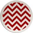 rug #355161 | round red borders rug