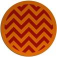 rug #355165 | round red retro rug