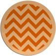 rug #355181 | round red-orange stripes rug