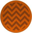 rug #355185   round red-orange borders rug
