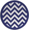 rug #355201 | round blue rug