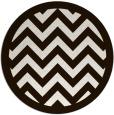 rug #355217 | round brown borders rug