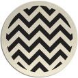 rug #355229 | round black borders rug