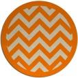rug #355237 | round beige borders rug
