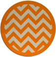 rug #355237 | round orange stripes rug