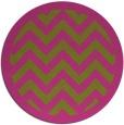 rug #355249 | round pink rug