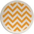rug #355269 | round light-orange stripes rug