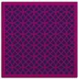 rug #355653 | square blue circles rug