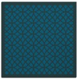rug #355705 | square blue-green borders rug