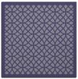 rug #355713   square blue-violet borders rug