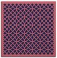 rug #355717   square blue-violet borders rug