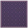 rug #355721 | square blue-violet borders rug