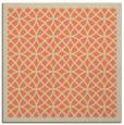 rug #355821 | square orange borders rug