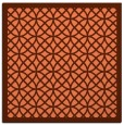 rug #355825 | square orange circles rug