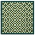 rug #355829 | square yellow circles rug