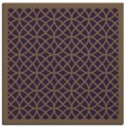 rug #355857 | square mid-brown borders rug