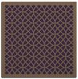 rug #355857 | square purple circles rug