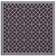 rug #355861 | square purple circles rug