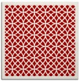 rug #355865 | square red borders rug