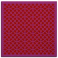 rug #355877 | square red circles rug