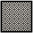 rug #355897 | square white borders rug