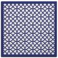 rug #355905 | square white circles rug