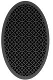 rug #355985   oval black circles rug