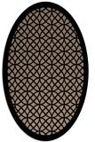 rug #355990 | oval geometry rug