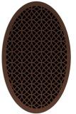 rug #355993 | oval brown rug