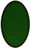 rug #356045 | oval green circles rug